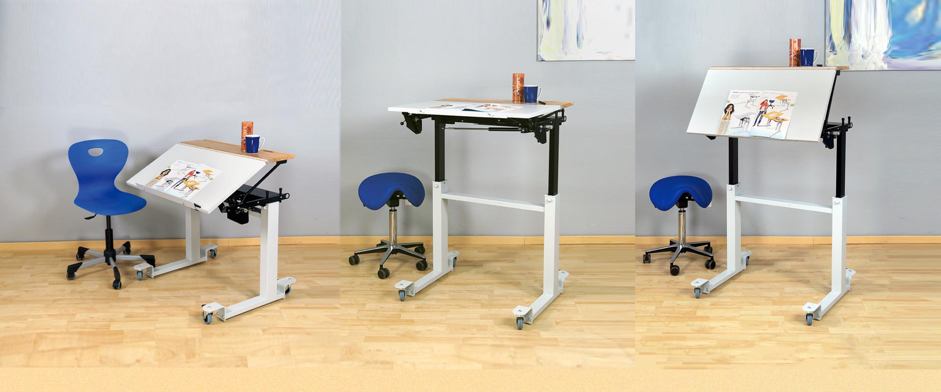 height inclination adjustable desk