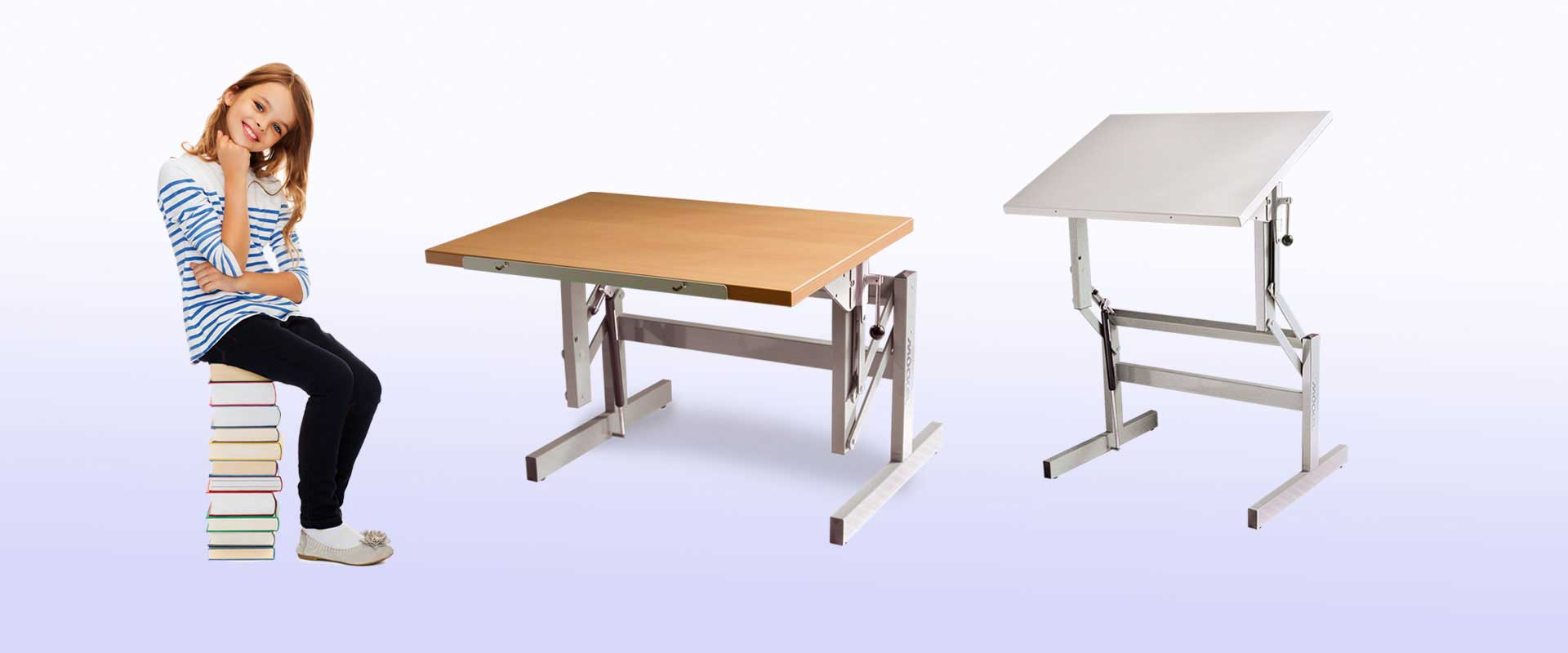 Moeckel Hight And Inclination Adjustable Desks And Tables