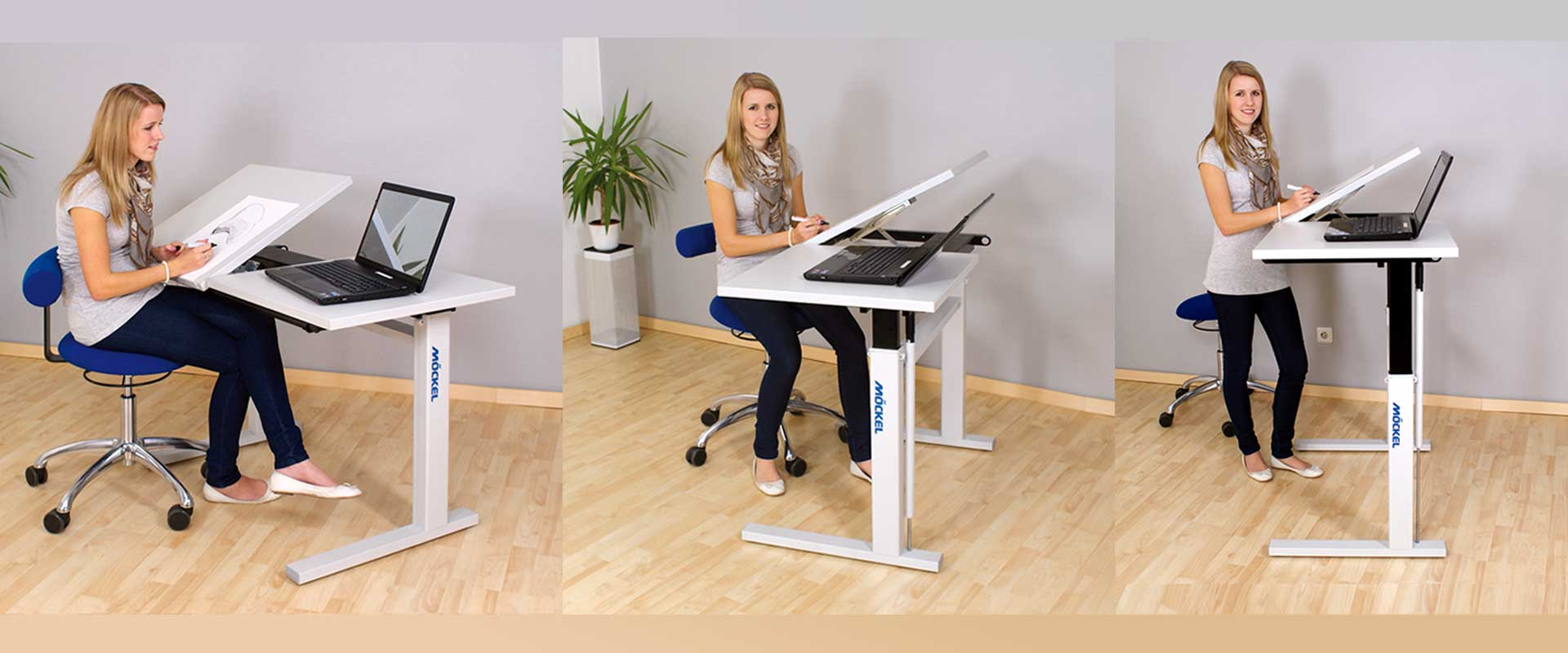 sit and stand-on table ergo M3